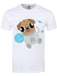 $enCountryForm.capitalKeyWord Australia - T-shirt Pugs In Space Men's White white black grey red trousers tshirt suit hat pink t-shirt RETRO VINTAGE Classic t-shirt