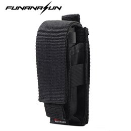 Knife Holsters Australia - Adjustable Flashlight Holster Pouch with Belt Tactical Hunting Multifunctional Led Torch Knife Holster Case BK #85662