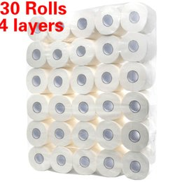 Wholesale Household Toilet Paper Four-Layers Paper Towels Bathroom Towels Soft Toilet Tissues Skin-Friendly Kitchen Roll Paper Table Decoration