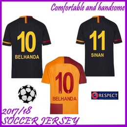 new AAA+++ 18 19 Galatasaray socce jerseys 2018 2019 Home Away 3rd third  CIGERCI BELHANDA FERNANDO FEGHOULI GOMIS SINAN Football Shirt f3b1bb956