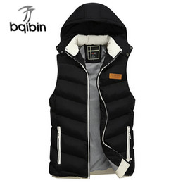 black sleeveless jackets for men NZ - 2019 New Spring Autumn Sleeveless Jacket for Men Fashion Warm Hooded Male Winter Vest Light Plus Size Mens Work Vests Waistcoat T5190613