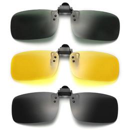 43008e0361 New Clip On Eye Glasses Night Vision Polarized Lens Fashion Driving Sunglasses  Flip Up Anti UV Sunglasses for Myopic Lens 293973