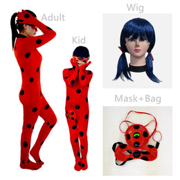 7bc67d369 Kid Classic Anime Miraculous Ladybug Costume Halloween Super Girl Uniform  Adult Carnival Cosplay Fancy Dress Cat Noir Jumpsuit
