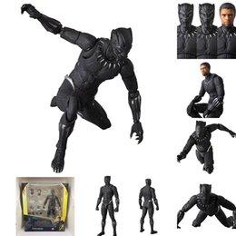 Venta al por mayor de Figura de acción de Marvel Negro Pantera Vengadores Final de partida el rey Of Infinity War Mafex 091 juguetes muñeca de Wakanda T'Challa Leyendas desenmascarado nocáuts