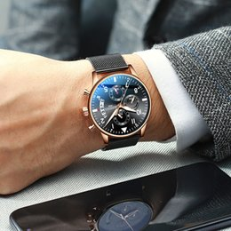 Top Brand Wrist Watches For Men NZ - 2019 Top Brand Fashion Men's Wrist Watch Sport Watches Man Business Chronograph Wrist Watch For Men Male Clock Relogio Masculino Y19062004
