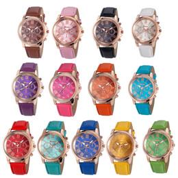 $enCountryForm.capitalKeyWord Australia - in 2018 Hot sales Unisex Geneva Leather PU Quartz Watches Men Women fashion casual Roma Men's Watch Casual dress rose gold wrist watches