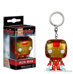 $enCountryForm.capitalKeyWord Australia - Pretty Discout Funko Pocket POP Keychain - Iron Man Vinyl Figure Keyring with Box Toy Gift Good Quality Free Shipping T604 HOT SELL