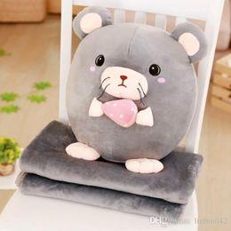 $enCountryForm.capitalKeyWord Australia - 20170609 Zodiac Doll Pillow Quilt Dual-use Stuffed Animals And Plush Toys For Chirdren Gift Free Shipping