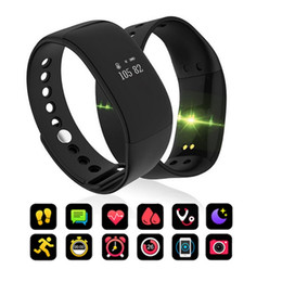New V66 Smart-Sync-Ring Fitness Tracker-Uhr-Pedometer-Blutdruck-Puls-Monitor-Armband Bluetooth Smart-Armband für IOS Android