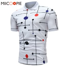 $enCountryForm.capitalKeyWord Australia - Mens Polo Shirt Brands Summer Short Sleeve Fashion Casual Slim Polka Dot Lattice Printed Button Polos Men Jerseys Top Tee XXXL