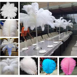 Performance Tables Australia - 25-30cm Ostrich Feachers For Birthday Party Decorations Stage Performance Costume Supplies Table Wedding centerpieces