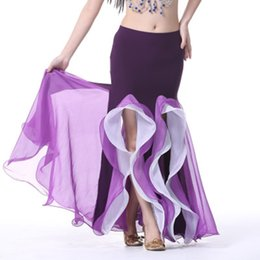 $enCountryForm.capitalKeyWord NZ - New Arrival Belly Dance Skirt Cheap Belly Dancing Costume Gypsy Skirt 9 Colors Dance Costume for Women Chiffon
