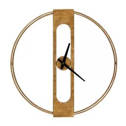 $enCountryForm.capitalKeyWord UK - Round Wall Clock Wrought Iron American Clock Home Living Room Modern Silent Wall