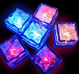 $enCountryForm.capitalKeyWord NZ - Aoto colors Mini Romantic Luminous Cube LED Artificial Ice Cube Flash LED Light Wedding Christmas Decoration Party WCW452