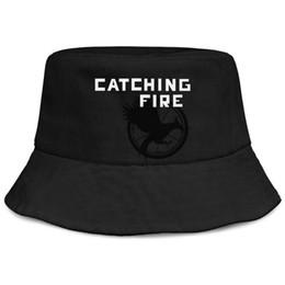$enCountryForm.capitalKeyWord UK - Hunger Games logo black men fishing bucket sun hat design sports personalized fashion personalized bucket suncap