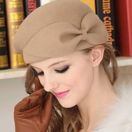 Fedoras Female Hat Cap Women Fedoras Elegant British Style Soft Wide Brim  Pure Wool Fedoras Hat Women Vintage Popular Wool Caps D19011103 206ac1f87f2