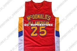 a22eae3c267b wholesale Derrick Rose  25 McDonald s All American Basketball Jersey Red Stitched  Custom any number name MEN WOMEN YOUTH BASKETBALL JERSEYS
