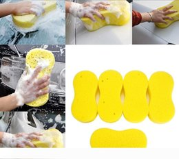 wax for cars wholesale UK - A Cleaning sponges for Car 8 shaped home cleaning tool Washing Cleaning Sponge for car washing sponge Car Waxing Polish No Scratche