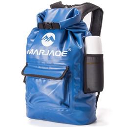 f3de83220f 22L Outdoor PVC Waterproof Bag Dry Sack Storage Bag for Rafting Canoe  Boating Kayaking River king Swimming Travel Backpack