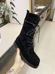 Chinese  New ins super fire in the tube sheep leather motorcycle boots retro sheepskin face female British wind frosted Martin boots manufacturers