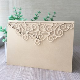 $enCountryForm.capitalKeyWord NZ - 20PCS  lot Elegant Wedding Invitation Cards Luxury Envelope Invitation Cards With Festival Graduation Greeting Blessing Greeting Cards