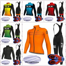 $enCountryForm.capitalKeyWord Australia - ALE team Outdoor Sports Cycling Jersey bib pants sets Winter Mens long Sleeves Thermal Fleece clothing bicycle riding clothes Q82126