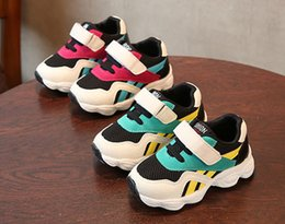 Walking Baby Girl Australia - New Designer Baby 2 Kids Athletic Shoes Youth Children Athletic Walking Sports Shoes For Boy Girl Shoes Kids Sneakers Sale For Size:21-35