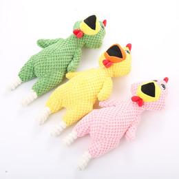 $enCountryForm.capitalKeyWord Australia - Foraway Dog Toy Pink White Green Shrilling Chicken 34.5cm Amazon Hot Selling Support Drop Shipping
