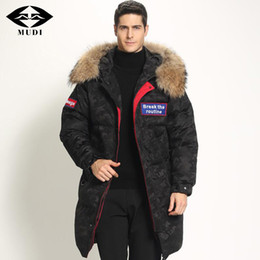 $enCountryForm.capitalKeyWord NZ - MUDI Super Thick Men's Down Coat Top Quality 90% White Duck Down Jacket with Fur Hood Long Winter Jacket Warm Parkas Overcoat