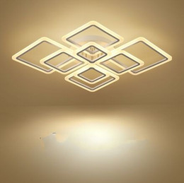 China New Designs Square Ring Chandeliers Lighting Modern LED Lustre De Plafond Modern Creative Home Decor Ceiling Lamps Lights Chandelier Fixture supplier ceiling decor lights suppliers