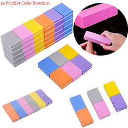 $enCountryForm.capitalKeyWord Australia - 10pcs lot Mini Nail File Blocks Colorful Sponge Nail Polish Sanding Buffer Strips Form Polishing Sandpaper Manicure Tools