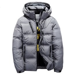 mens duck down parkas NZ - 2018 Winter Hooded Duck Down Jackets Mens Warm Thick Quality Down Coats Male Winter Overcoat Down Parkas Man Puffer Jackets MX191105