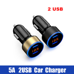 $enCountryForm.capitalKeyWord Australia - 2 USB Car Charger Adapter 5V 3.1A Digital LED Voltage Current Display Auto Quick Charge for iphone x xs max 8 7