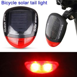 $enCountryForm.capitalKeyWord Australia - Solar LED Bicycle Light Safety Night Cycling Lights Rear Flashlight Bike Lamp Backlight Taillight Solar Bicycle Lights #510030