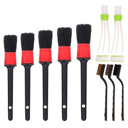 $enCountryForm.capitalKeyWord Australia - 10 Pieces Car Cleaner Brush Set Including Detail Brush Wire Automotive Air Conditioner, Auto Detailing for Cleaning