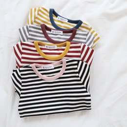Baby Tees Australia - 2018 Autumn Clothes Shirt Knit Cotton Baby Girls T Shirts Long Sleeve Fashion Children Blouse Kids Top Tees T-shirt J190529