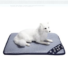 canopy dog beds Australia - Cooling Pad Mat Bed for Dogs & Cats, Extra Large - Non Toxic, Non Sticking, Skin-Friendly, Keep Pets Cool, Prevent Overheating & Dehydration