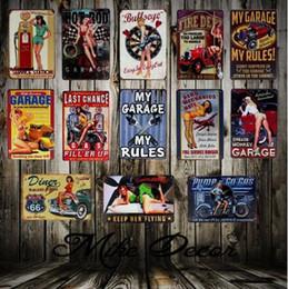 Großhandel Sinclair Motoröl Texaco Metallblechschilder 20X30 CM Vintage Garage Zeichen Man Cave Retro Zeichen Bar Pub Wanddekor DHL geben 717 frei