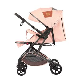 Stroller Light Folding Australia - Ultra-light portable folding stroller two-way can sit reclining four-wheel absorber baby stroller reversing mini pocket ca