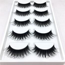 $enCountryForm.capitalKeyWord Australia - 5 Pairs set Elegant Women Ladies Makeup False Eyelashes Long Natural Diy Soft Black Party Flase Lashes Extension Hot