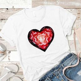 $enCountryForm.capitalKeyWord NZ - Women Shirt Womens love heart flower fashion Female Graphic Ladies Mujer Camisa Top Tshirt Tees Printed Kawaii Clothes T-shirt