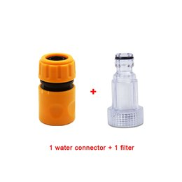 garden hose quick UK - Car Washing Machine Adapter for High Pressure Washer Water Connector Filter Quick Connection Garden Hose Pipe Fitting