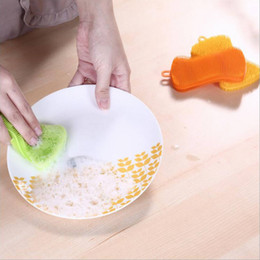 $enCountryForm.capitalKeyWord Australia - 1x Silicone Scouring Pad Dish Bowl Pot Cleaning Sponge Wash Brushes - Soap Shape Brand New Drop Shipping