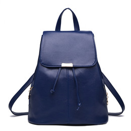 Navy Style Backpack Australia - MONNET CAUTHY Bags for Female Concise Leisure New Fashion Korean Style Backpacks Solid Color Pink Sky Blue Navy Blue White Bag #274500