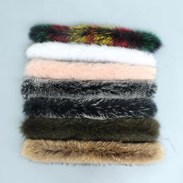 Real Fur Trimmed Jackets Australia - colors natural real raccoon fur hoody trim collar for parkas and winter coat jackets hooded genuine fur collar scarves femme