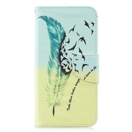 China Painted PU Leather Case For Samsung Galaxy S10 S10 Lite S10 Plus Cover Flip wallet With Card slot Feather Butterfly Phone Bags cheap bags paint suppliers