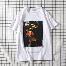 Tee Cotton Australia - New brand mens tshirt designer fashion tshirts trend high quahity t-shirt luxury cotton t-shirts off men women white wild t shirt street tee