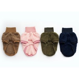 New Autumn and Winter Pet Clothing Coral Cashmere Solid Color Turtleneck Sweater Teddy Small Dog Clothes