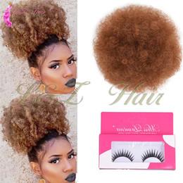kinky hair ponytails 2019 - Beauty Synthetic Afro curly hair bun 13 Colors 50g Kanekalon Drawstring Ponytail Drawstring Synthetic Buns Kinky Curly C