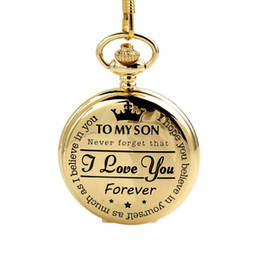 $enCountryForm.capitalKeyWord NZ - CKKU Jewelry Gold Classical Personalized Pattern Quartz Pocket Watch Engraved Present 15 Inch Chain for Son Gift LPW882